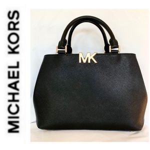 NWT authentic MK leather Florence satchel black